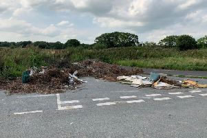 Fly-tipping is turning Bluebell Way into an eyesore says former councillor.