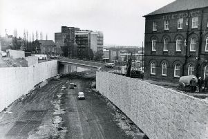 Working on Chesterfield bypass March 1985