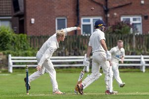 Birstall's Josh Haynes in Bradford League Championship Two action against Altofts last Saturday. Picture Scott Merrylees