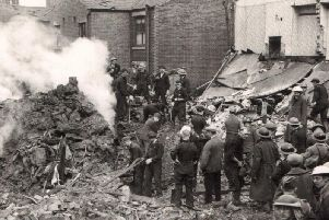 Aftermath of the Ward Street bombing in Lostock Hall in 1940 captured in this photograph which has just turned up at South Ribble Museum, in Leyland