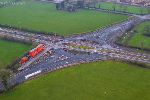 This image by Steve Peters was captured when the work was being carried out on the new roundabout.