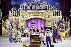 The grand finale of the Disney on Ice show.