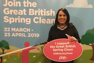 Rubbish battle: Paula Sherriff MP will be holding four litter picks as part of the Spring clean drive.
