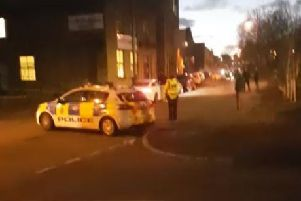 Police cordoned off part of Field Lane last night.