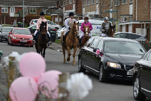 Funeral of baby Charley Green-Armytage