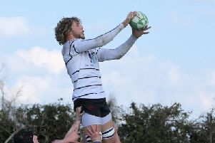 Ryan Carlson leaps at the lineout (photo: Malcolm Beadle)