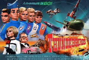 """Five, four, three, two, one. Thunderbirds are go! ''It was produced between 1964 and 1966 using a form of electronic marionette puppetry. ''Thunderbirds follows the exploits of the Tracy family, headed by American ex-astronaut Jeff Tracy. Jeff is a widower with five adult sons: Scott, John, Virgil, Gordon and Alan. They lived on Tracy Island.''Other characters included Brains, Lady Penelope and her chauffeur Parker.''There were five aircraft: Thunderbird 1: a hypersonic rocket plane used for fast response and disaster zone reconnaissance. Piloted by Scott, IR's rescue co-ordinator.''Thunderbird 2: a supersonic carrier aircraft that transports rescue vehicles and equipment in detachable capsules called """"pods"""". Piloted by Virgil.''Thunderbird 3: a single-stage-to-orbit spacecraft. Piloted alternately by Alan and John, with Scott as co-pilot.''Thunderbird 4: a utility submersible. Piloted by Gordon and usually launched from Thunderbird 2.''Thunderbird 5: a space station that relays distress calls from around the"""