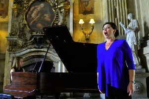 Soprano Sarah Fox at Castle Howard.