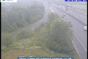 View from junction 24 of the M1 this morning.