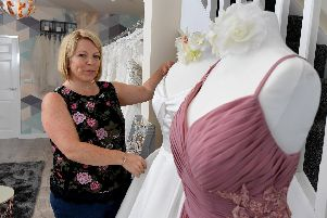 Gown Bridal co-founder Sally Wood in her store.