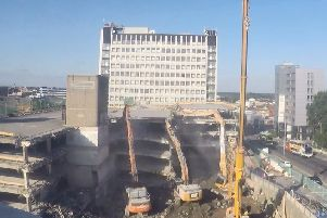 See Preston's former indoor market car park disappear in incredible time-lapse footage