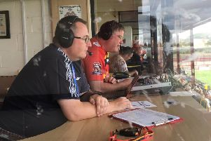 Vital service: HWD Hospital Radio's Rugby League commentary team.