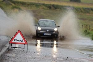 Weather warning for heavy rain in Derbyshire.