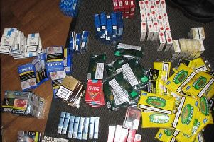 The seized cigarettes and tobacco products