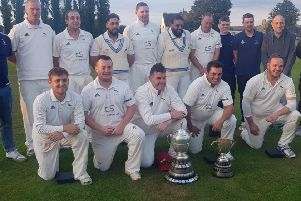 Hanging Heaton added the Bradford League Second Teams Premier Division title to the Crowther Cup.
