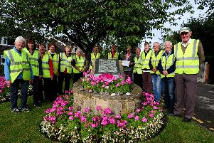 Members of Scholes in Bloom, are pictured at Scholes.