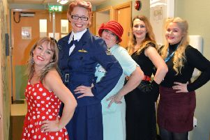 Dedicated staff at Doncaster and Bassetlaw Teaching Hospital's (DBTH) Mallard Ward have donned costumes reflecting the fashions of the 1940s in a creative bid to transport their patients back in time for an afternoon tea-party