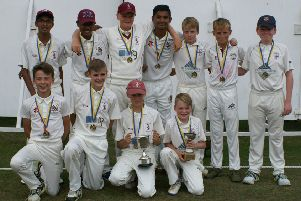 Doncaster Under 13s: Back row (l-r): Fawaz Anjum (Doncaster Town), Ryan Alahakon (Doncaster Town), Jack Hotchkiss (Doncaster Town), Senith Wijesinghe (Bawtry), Jacob Swales (Sprotbrough), Keaton Mann (Adwick), Daniel Clarke (Sprotbrough). Front row (l-r): Ben Taylor (Doncaster), Ewan Whittaker (Doncaster), Joe Woodiwiss (Doncaster), Daniel Swales (Sprotbrough). Not pictured: Nicky Graves (Sprotbrough), Max Grant (Sprotbrough), Marcus Green (Warmsworth).