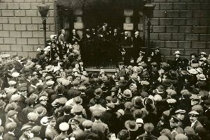 Armistice declared on the Steps of Doncaster Mansion House
