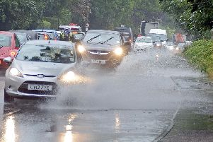 Heavy rain has hit the region