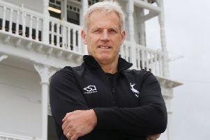 Peter Moores, who was a key factor in Joe Clarke signing for Notts.