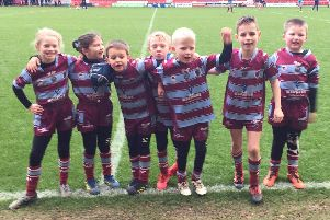 Toll Bar's U7s and U8s were mascots at Doncaster RLFC v Leeds Rhinos on Sunday.