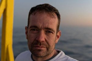 Brendan Woodhouse. Picture posted on Sea-Watch 3 Facebook page.