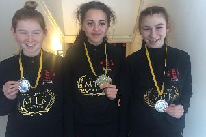 MTK Manchester's Maisie Morgan, Monae Smith and Amalie Garcia