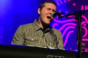 Brian Fallon pictured during his previous Newcastle show. Photo: Gary Welford