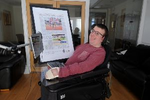 Sports writer Ben Cropper pictured at his home at Adel, Leeds.