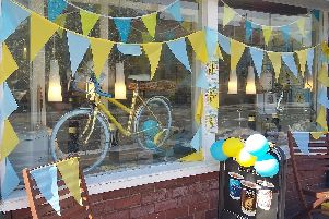 A Doncaster window display from a previous year
