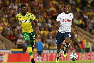 Daniel Johnson in action during the game between the sides at Carrow Road earlier in the season