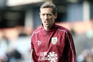 Burnley's Peter Crouch during the pre-match warm-up ''Photographer Rich Linley/CameraSport''The Premier League - Burnley v Southampton - Saturday 2nd February 2019 - Turf Moor - Burnley''World Copyright � 2019 CameraSport. All rights reserved. 43 Linden Ave. Countesthorpe. Leicester. England. LE8 5PG - Tel: +44 (0) 116 277 4147 - admin@camerasport.com - www.camerasport.com
