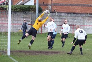 Action from Highfield Social v Exceptional Kitchens Picture: KAREN TEBBUTT