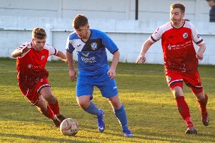 Action from Armthorpe v Grimsby Borough. Photo: Steve Pennock