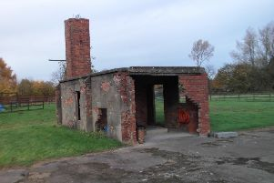 The remains of one of RAF Santoft's two crew locker and drying rooms on the technical site