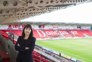 Jill Wood at Keepmoat Stadium