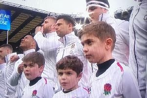 Jack Johnson (right) was an England mascot on Saturday