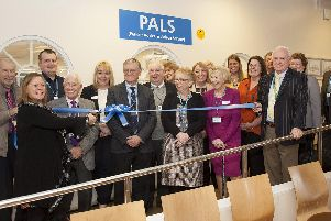 Trust chairman, Suzy Brain England OBE, officially cuts the ribbon on the brand new area with the PALS team, governors and deputy director of nursing