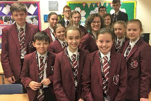 Pupils at Trinity Academy who took part in the BBC Bitesize sessions