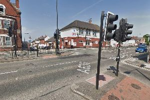 A police car was involved in a collision with a car at the junction of Balby Road and Carr Hill, Doncaster