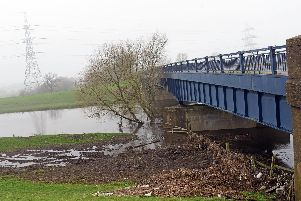 The River Don at Barnby Dun flooding last year. Picture: Marie Caley NDFP Flood MC 4