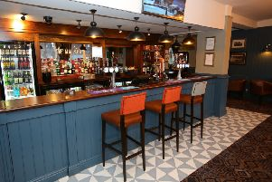 The new bar area at The Mallard pub in Seaham.