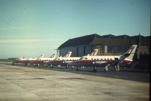 Jetstream aircraft at RAF Leeming in 1979