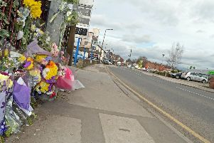 Floral tributes were left on Station Road where Susan Gravel was killed in a hit-and-run in 2017. Now an arrest has been made