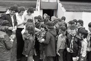 It was great to be young at Deepdale where, before the game with Brighton, youngsters were in the spotlight. Pictured here are Bamber Bridge cub-scouts who were taken on a tour of Deepdale where they met PNE stars Stuart Baxter, Rikki Thomson and Stephen Doyle