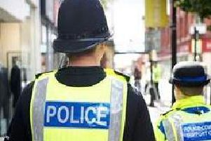 The shocking attack happened as Lancashire Police officers responded to an emergency call at a home in Darwen on Tuesday, April 16.