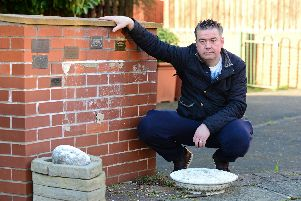 Councillor Sean Gibbons, pictured in the Memorial Garden on West Road, Mexborough. Picture: NDFP-26-03-19-RossingtonHall-3