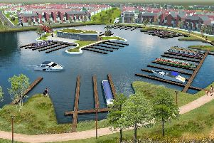 An artist's impression of the marina that's planned