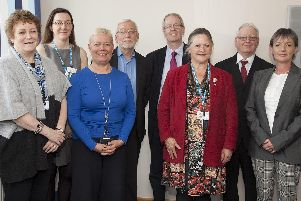 DBTH governors with chairman of the board, Suzy Brain England (third from right)